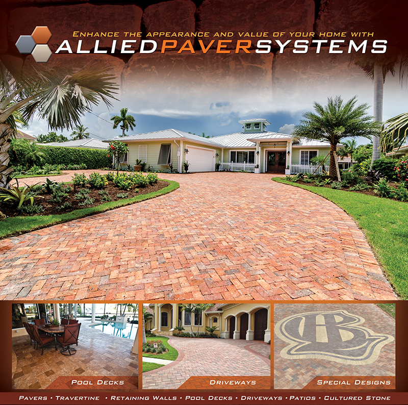 Orange brick Paver driveway by Allied paver Systems