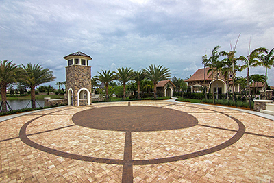 Custom commercial pavers install by Allied Paver Systems