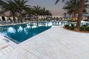 Commercial Shell Stone Pool Deck