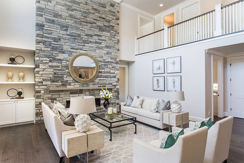 residential interior cultured stone veneers in naples, FL by Allied Paver Systems