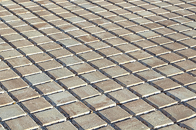 Square permeable brick pavers