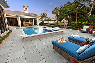 porcelain pool deck Install in Naples FL by Allied Paver Systems