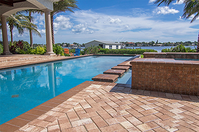 Residential pool deck remodel pavers by Allied Paver Systems