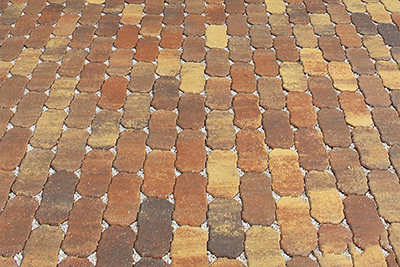 residential walkway permeable pavers by Allied Pavers Systems